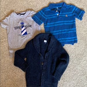 Toddler boys 3T Janie and Jack Gap shirts